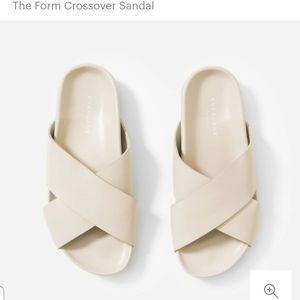 Everlane Form Crossover Sandal Cream 8